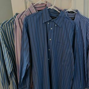 Lot of 4 men's collared button down shirts